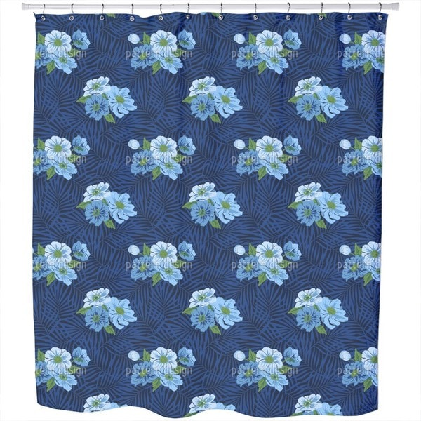 Fiji Flowers Shower Curtain