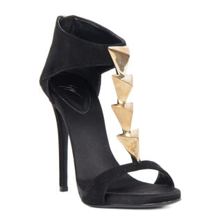 Giuseppe Zanotti Black Satin Heel Sandals