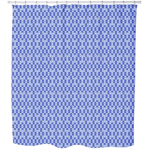 Fine Grid Shower Curtain