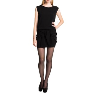 Theory Fomment Black Wool Tie Dress