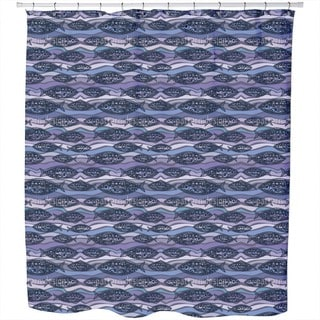 Fish On Pacific Waves Shower Curtain