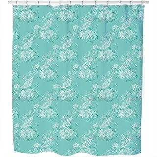 Flora Antique Mint Shower Curtain