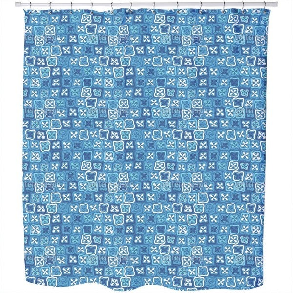 Floral Crossover Mosaic Shower Curtain