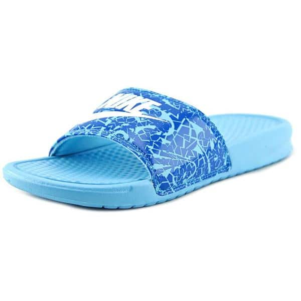 43fcfd69692d Shop Nike Women s  Benassi JDI Print  Synthetic Sandals - Free ...