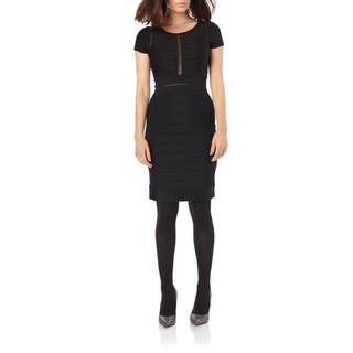 French Connection Lydia Black Bandage Dress|https://ak1.ostkcdn.com/images/products/11620697/P18556456.jpg?impolicy=medium