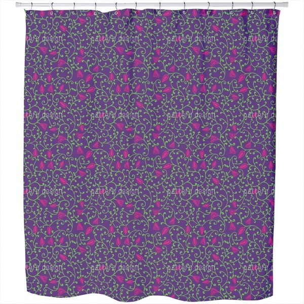 Floral Night Shower Curtain