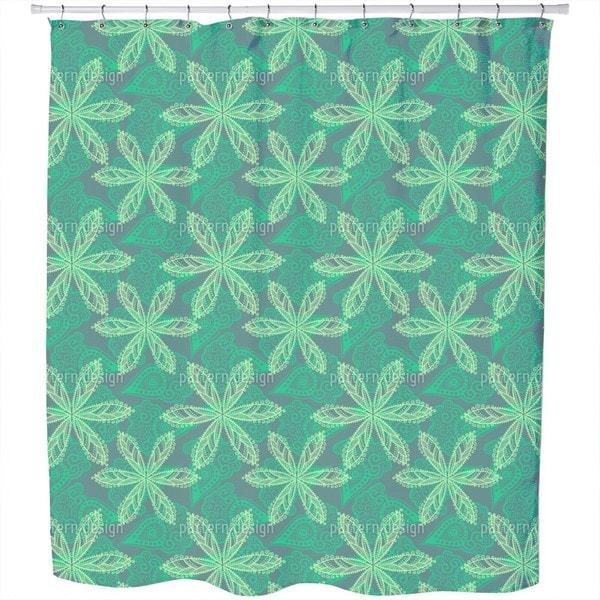 Floral Oriental Shower Curtain