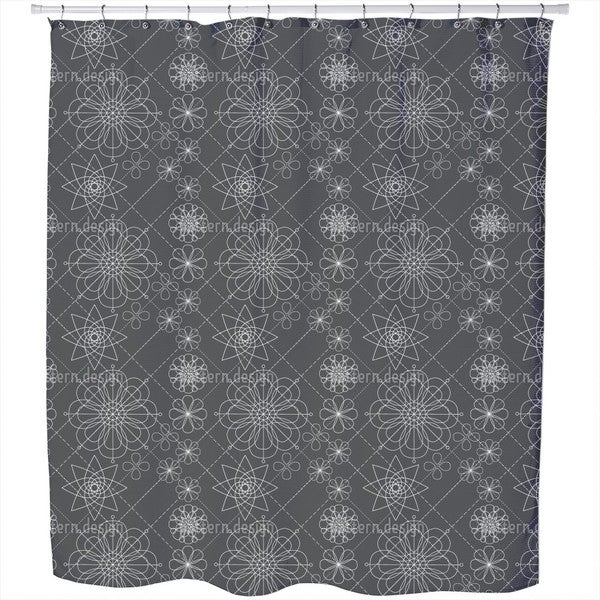 Flower Construction Shower Curtain