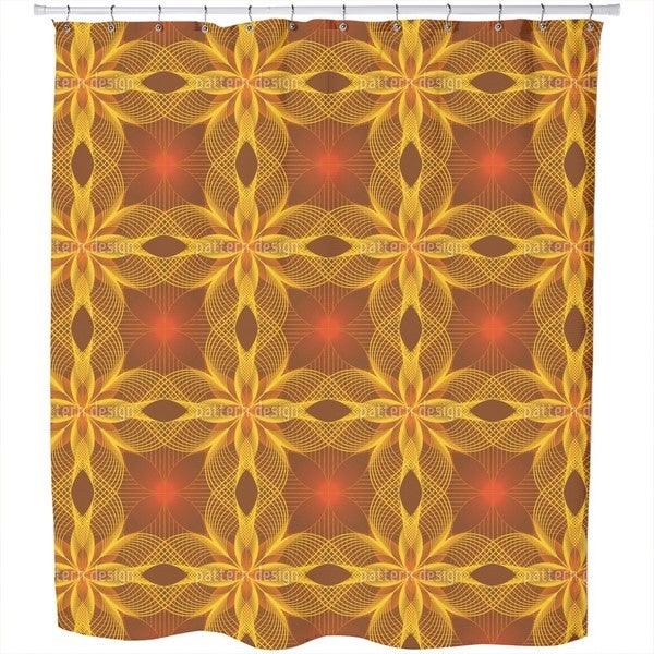 Flower Geometry Shower Curtain