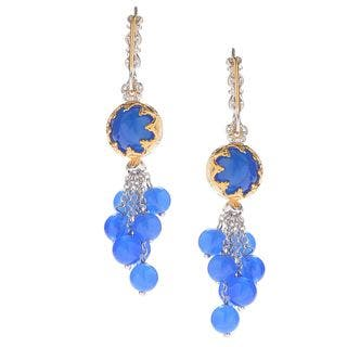 Michael Valitutti Royal Blue Chalcedony Earrings|https://ak1.ostkcdn.com/images/products/11620767/P18556415.jpg?impolicy=medium