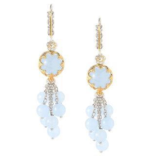 Michael Valitutti Aqua Blue Chalcedony Earrings