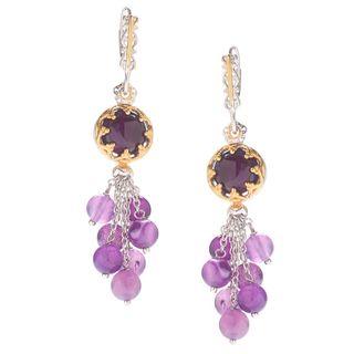 Michael Valitutti Red/Purple Chalcedony Earrings