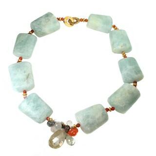Michael Valitutti Aquamarine and Quartz Necklace