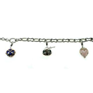 Michael Valitutti Multi Gemstone Charm Bracelet