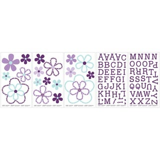 Crown Crafts Harmony Purple Flower Wall Decals