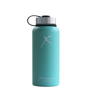 Xtreme Canteen 32-ounce Double Wall, Vacuum Insulated, 18/8 Stainless Steel Wide Mouth Water Bottle with Stainless Strap Lid