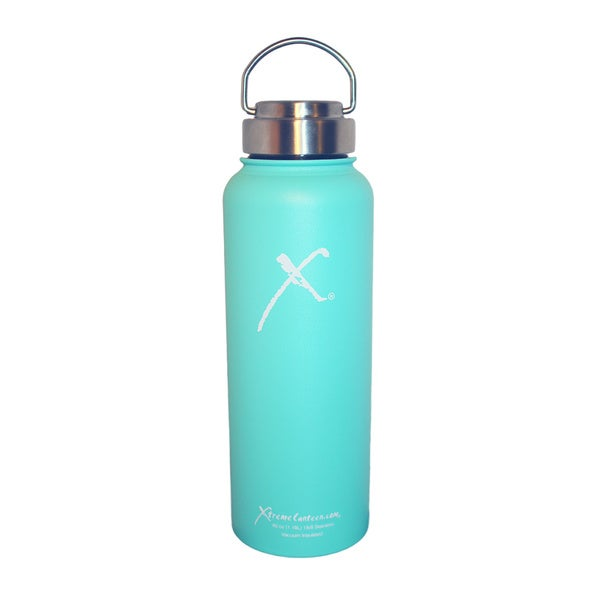Xtreme Canteen 40-ounce Double Wall, Vacuum Insulated, 18/8 Stainless Steel Wide Mouth Water Bottle with Stainless Signature Lid
