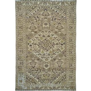 Semi Antique Persian Bakhtiari Overdyed Natural Colors Rug (6'6 x 9'9)