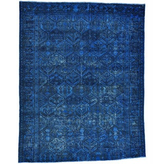 Semi Antique Persian Bakhtiari Overdyed Handmade Rug (6'9 x 8'7)