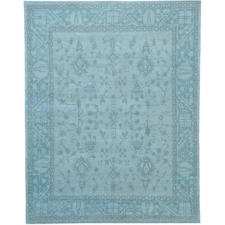 Pure Wool Stone Wash Oushak Hand-knotted Oriental Rug (8'1 x 10'3)