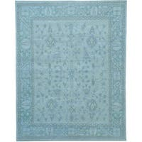 """Pure Wool Stone Wash Oushak Hand-knotted Oriental Rug - 8'1"""" x 10'3"""""""