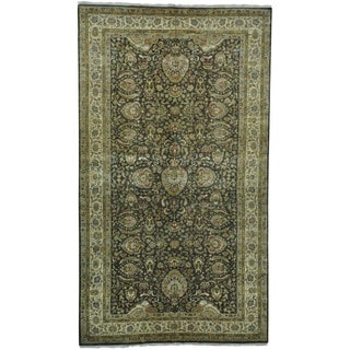 Pure Wool Gallery Size Dense Weave Tabriz Hand-knotted Rug (8' x 14')