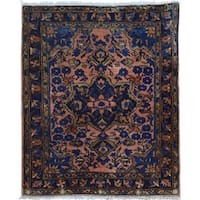 Antique Persian Mohajeran Sarouk Soft and Clean Rug (2'1 x 2'7)