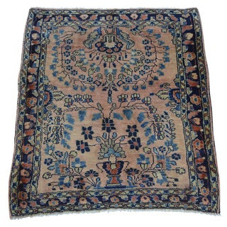 Antique Persian Sarouk Handmade Mint Cond Square Rug (2' x 2'4)