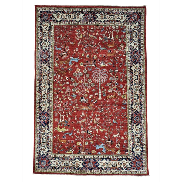 Shop Tree Of Life Design Hand Knotted Pure Wool Oriental Rug 63