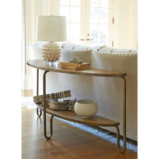 Moderne Muse Console Table in Bisque Finish