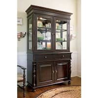 Paula Deen Home China Buffet Hutch Complete in Tobacco Finish