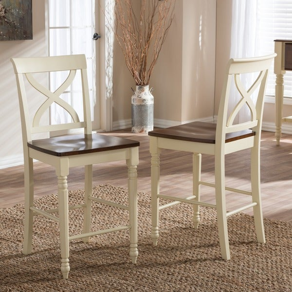shop southwestern light brown wood 24 counter stool by baxton studio free shipping today. Black Bedroom Furniture Sets. Home Design Ideas