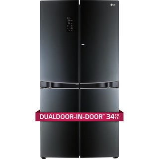 LG LPCS34886C 4-Door Refrigerator with DualDoor-in-Door in Luminous Black
