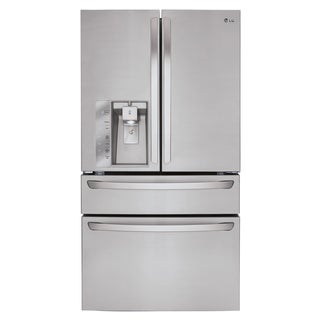 LG LMXS30756S 30-cubic Foot 4-door French Door Refrigerator with CustomChill Drawer and Kimchi Bins in Stainless Steel