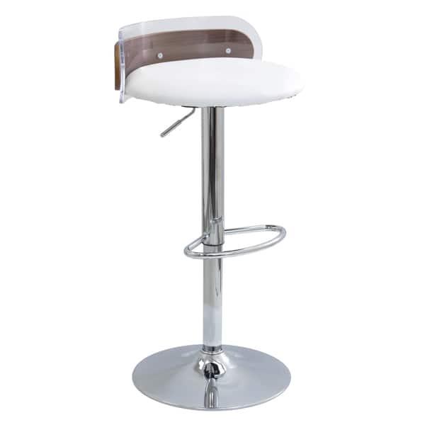 Admirable Shop Lumisource Arc Adjustable Bar Stool White Clear Evergreenethics Interior Chair Design Evergreenethicsorg