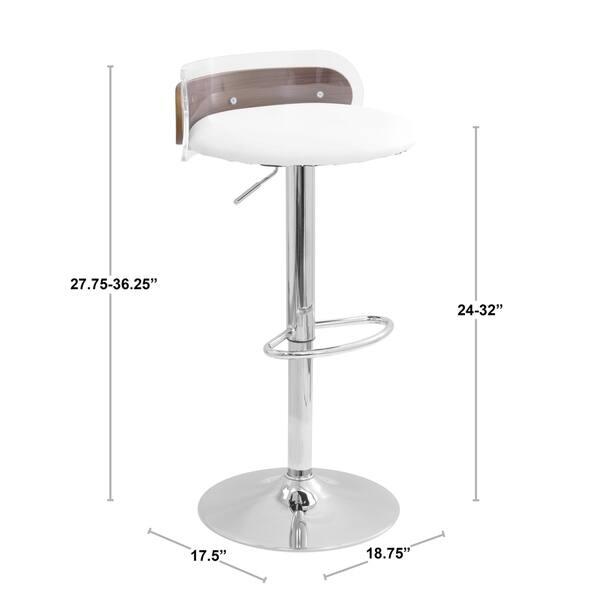 Remarkable Shop Lumisource Arc Adjustable Bar Stool White Clear Machost Co Dining Chair Design Ideas Machostcouk