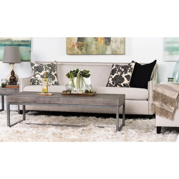 kosas home parker pine and iron 60 inch coffee table - free
