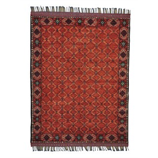 Afghan Ersari Vegetable Dyes Hand-knotted Pure Wool Rug (5' x 6'5)