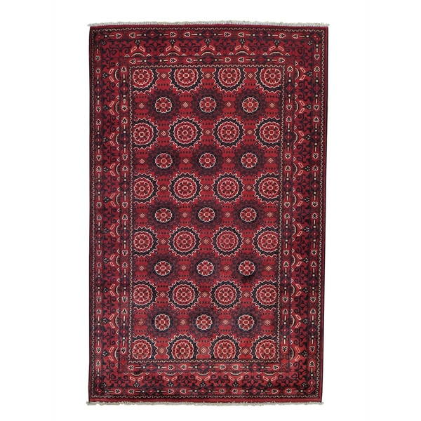 Afghan Khamyab Vegetable Dyes Hand-knotted Oriental Rug (3'10 x 6'1)