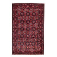 """Afghan Khamyab Vegetable Dyes Hand-knotted Oriental Rug - 3'10"""" x 6'1"""""""