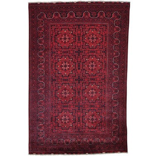 Pure Wool Natural Dyes Afghan Khamyab Hand-knotted Rug (5'3 x 8')