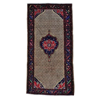 Persian Serab Camel Hair Hand-knotted Wide Runner Rug (5' x 9'10)