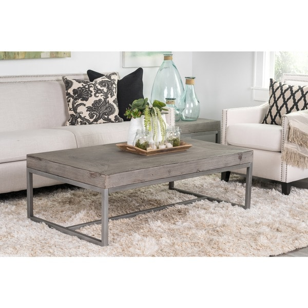 Wilson Antique White Coffee Table: Kosas Home Parker Distressed Grey Finish 54 Inch Coffee