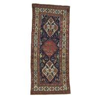 "Antique Northwest Persian Wide Handmade Exc Cond Runner Rug - 4'0"" x 8'7"""