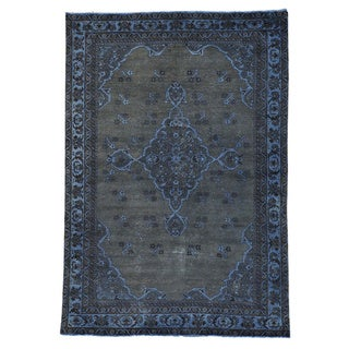 Persian Bakhtiari Overdyed Semi Antique Hand-knotted Rug (6'6 x 9'4)