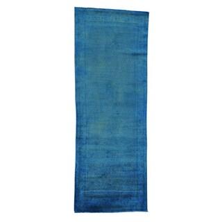 Persian Sarouk Mir Handmade Overdyed Runner Rug (3'8 x 10'5)