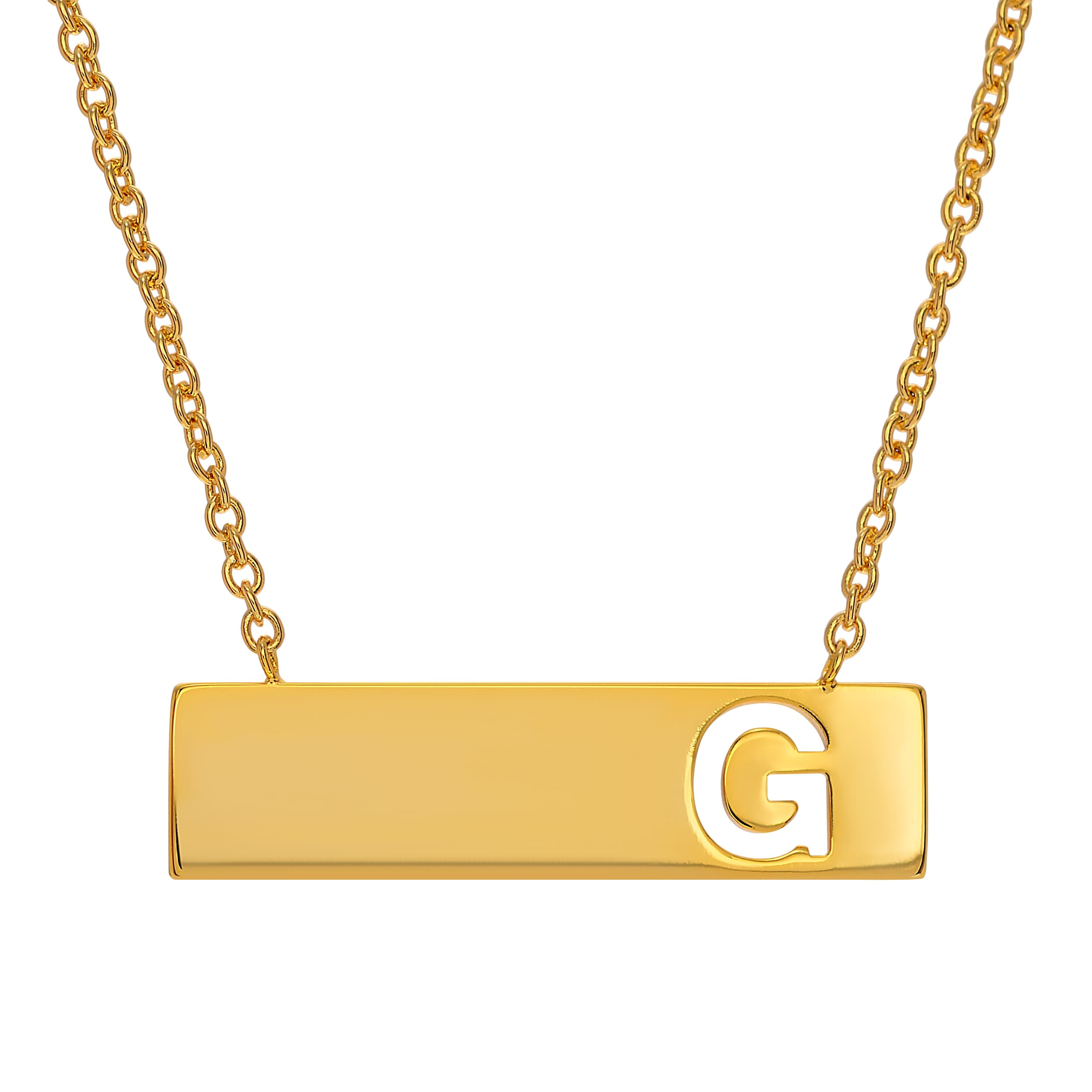 Journee Collection Goldtone Initial Bar Pendant (Y), Wome...