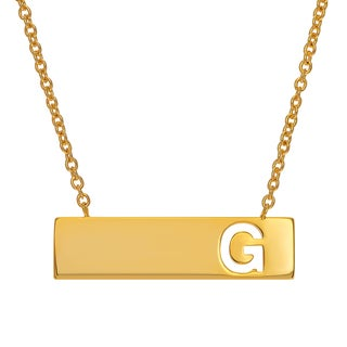 Journee Collection Goldtone Initial Bar Pendant