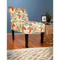 MJL Furniture - Samantha Button Tufted Flora Foliage Accent Chair