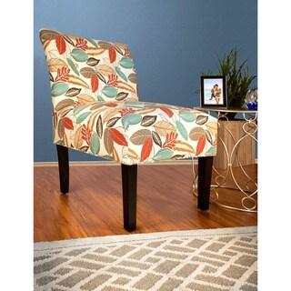 MJL Furniture - Samantha Button Tufted Flora Foliage Accent Chair